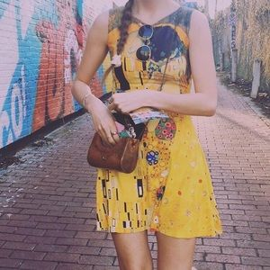 Black Milk The Kiss Klimt Play Skater Dress